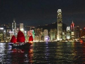 The skyline of Hong Kong