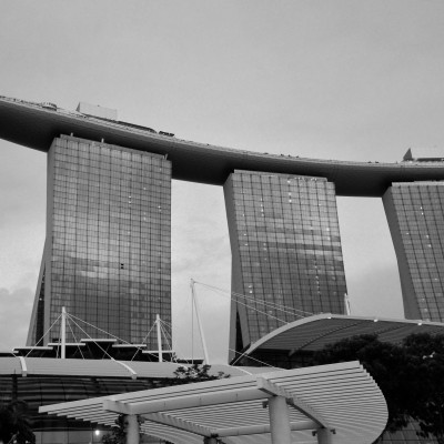 The Marina Bay Sands. the world's most expensive standalone casino property at $6 billion USD (including cost of the premium land).