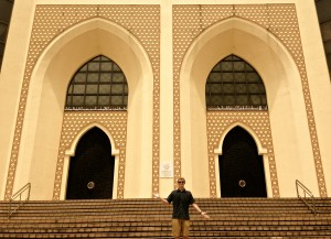 Rob enjoying the Islamic architecture that can be found around the city.