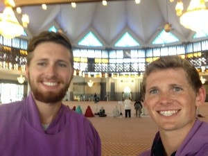 At the national Mosque of Malaysia.