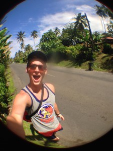 Just walking along the main road on a lovely day in the village of Muri, Rarotonga.