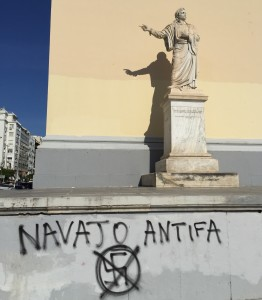 Anti-German sentiment is often times tangible.  Here is some anti-German graffiti on the side of a University building in Athens.