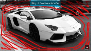 The King of Saudi Arabia was visiting Monaco and he left his Lamgorgini outside the hotel.  This car goes from 0-60 in 2.9 seconds.