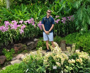 Me in the National Orchid Garden, Singapore.