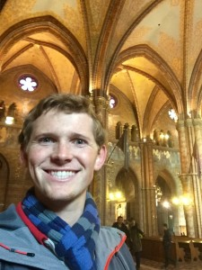 Me inside Matthias Church.  It just finished a big restoration project and it looks really really nice on the inside.