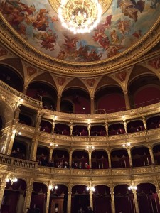 Inside the Hungarian State Opera House. One of the more beautiful theaters I have ever seen.