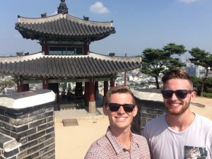Alex and I met few other tourists when visiting Korea's Hwaseong Fortress.