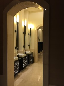 A picture of the bathroom in Dubai from the foyer.