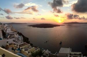 The sunsets of Santorini <3