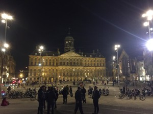 Dam Square, or simply the Dam, is a town square in Amsterdam, the capital of the Netherlands. Its notable buildings and frequent events make it one of the most well-known and important locations in the city and the country.
