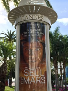 Movie posters in Cannes, cool.