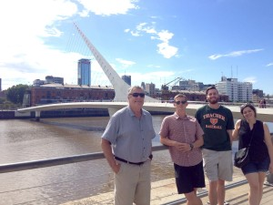 Almost the whole family at Puente de la Mujer in the newer part of Buenos Aires.
