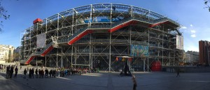 The Centre Georges Pompidou.  Certainly one of the most architecturally adventurous buildings I have seen in a while :)