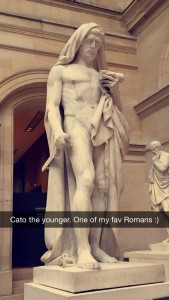 Cato the Younger, one of the most honorable Romans of all time.