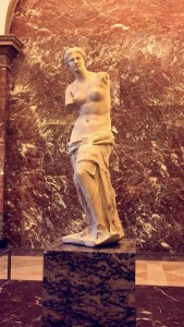 Venus de Milo. Thankfully it was not swarmed by tour groups when I took this, but it WAS earlier in the day.