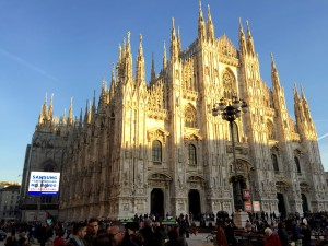 The Duomo di Milano. The fifth biggest church in the world and maybe the most beautiful one I have ever visited. It is freaking amazing.