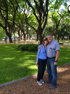 Mom and dad in Buenos Aires.