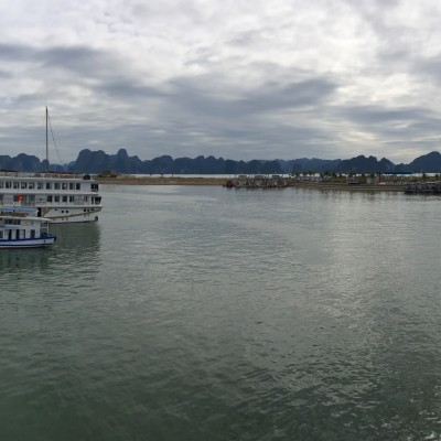 Ha Long Bay from a distance