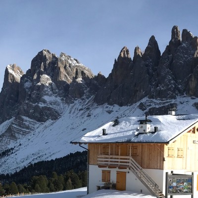 In the Dolomites!